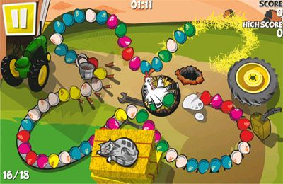 Screenshots of the Chicken Zooma game for iPhone, iPad or iPod.