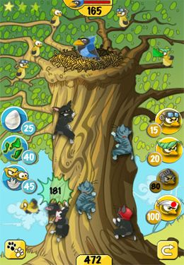 Écrans du jeu Chicks vs. Kittens pour iPhone, iPad ou iPod.