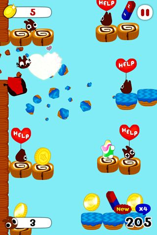 Capturas de pantalla del juego Chocohero para iPhone, iPad o iPod.