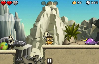Screenshots do jogo Chop Chop Caveman para iPhone, iPad ou iPod.