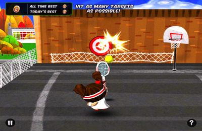 Screenshots of the Chop Chop Tennis game for iPhone, iPad or iPod.