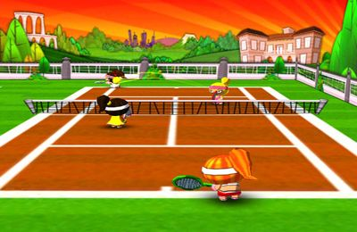 Capturas de pantalla del juego Chop Chop Tennis para iPhone, iPad o iPod.