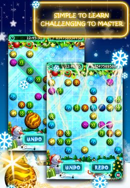 Screenshots of the Christmas B'uzz'le game for iPhone, iPad or iPod.