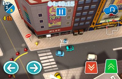 Screenshots vom Spiel CitiRacing – No Need for Speed für iPhone, iPad oder iPod.