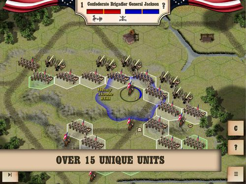 Screenshots do jogo Civil war: Bull Run 1861 para iPhone, iPad ou iPod.