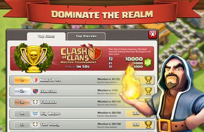 Геймплей Clash of Clans для Айпад.