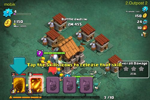 Screenshots vom Spiel Clash of lords 2 für iPhone, iPad oder iPod.