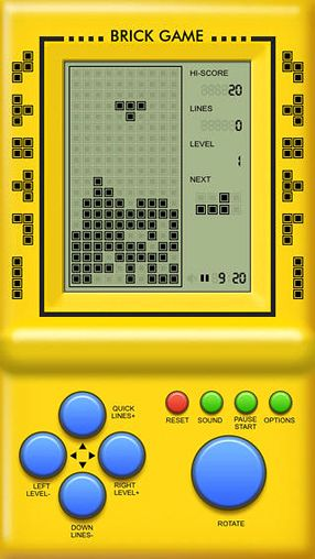 Screenshots of the Classic brick game for iPhone, iPad or iPod.
