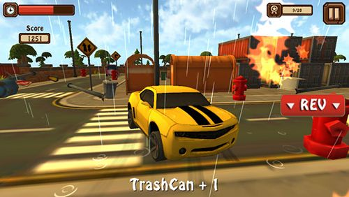 Download Classic car: 3D city smash iPhone free game.