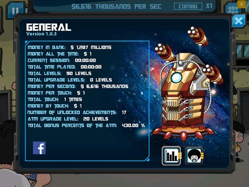 Screenshots of the Clicker heroes: Guardians of the galaxy game for iPhone, iPad or iPod.