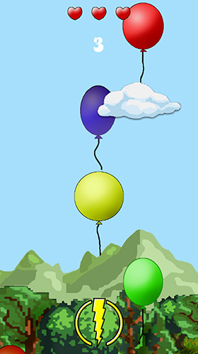 Screenshots of the Cloud vs. balloons: Light game for iPhone, iPad or iPod.