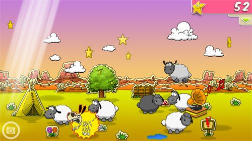 Free Clouds & sheep download for iPhone, iPad and iPod.