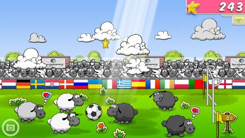 Screenshots vom Spiel Clouds & sheep für iPhone, iPad oder iPod.