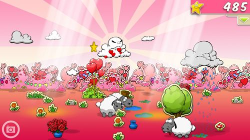 Screenshots of the Clouds & sheep game for iPhone, iPad or iPod.