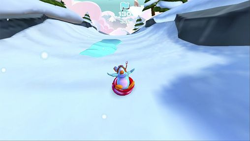 Screenshots of the Club penguin: Sled racer game for iPhone, iPad or iPod.