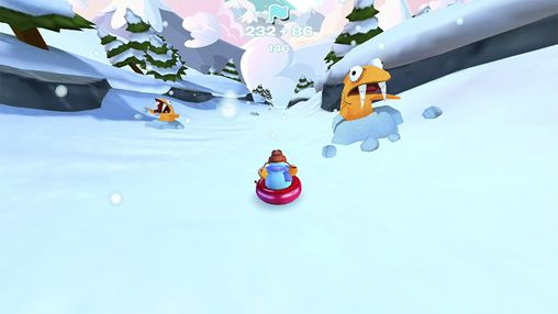 Capturas de pantalla del juego Club penguin: Sled racer para iPhone, iPad o iPod.