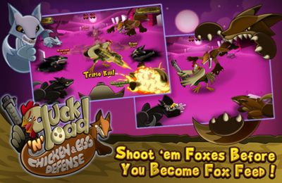 Screenshots vom Spiel Cluck 'n' Load: Chicken & Egg Defense, Full Game für iPhone, iPad oder iPod.