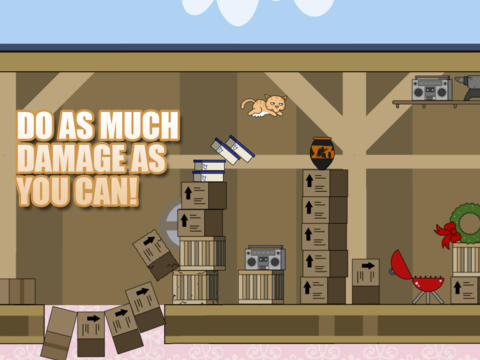Capturas de pantalla del juego Clumsy Cat para iPhone, iPad o iPod.