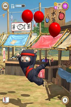 Descarga gratuita de Clumsy Ninja para iPhone, iPad y iPod.