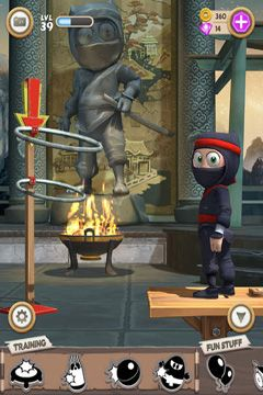 Capturas de pantalla del juego Clumsy Ninja para iPhone, iPad o iPod.