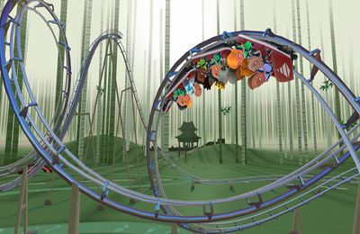 Screenshots of the Coaster Crazy game for iPhone, iPad or iPod.