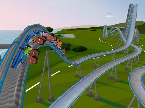Screenshots of the Coaster Crazy Deluxe game for iPhone, iPad or iPod.