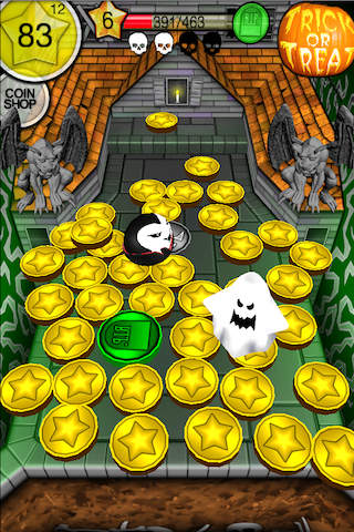 Download Coin dozer: Halloween iPhone free game.