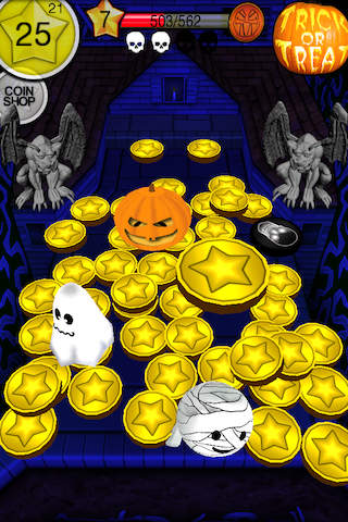 Free Coin dozer: Halloween download for iPhone, iPad and iPod.