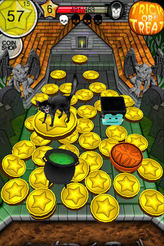 Screenshots of the Coin dozer: Halloween game for iPhone, iPad or iPod.