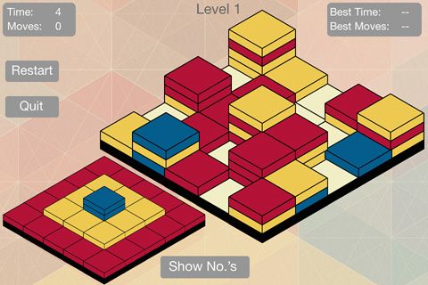 Screenshots of the Color tower game for iPhone, iPad or iPod.