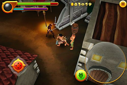 Screenshots of the Conan: Tower of the elephant game for iPhone, iPad or iPod.