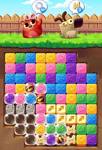 Screenshots of the Cookie cats blast game for iPhone, iPad or iPod.