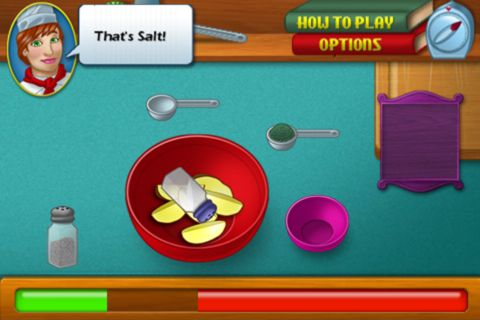 Screenshots of the Cooking academy game for iPhone, iPad or iPod.