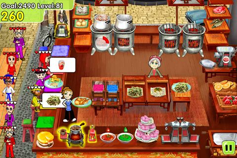 Capturas de pantalla del juego Cooking dash: Deluxe para iPhone, iPad o iPod.