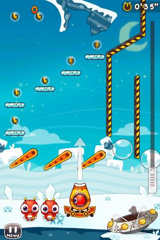Screenshots of the Cosmic bump game for iPhone, iPad or iPod.