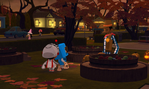 Screenshots of the Costume Quest game for iPhone, iPad or iPod.