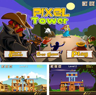 En plus du jeu Le Lapin contre Les Plantes Cosmiques pour iPhone, iPad ou iPod, vous pouvez aussi télécharger gratuitement Tour de cowboy Pixel: frapper et détruire la structure , Cowboy Pixel Tower – Knock Them Off And Crush The Structure!.