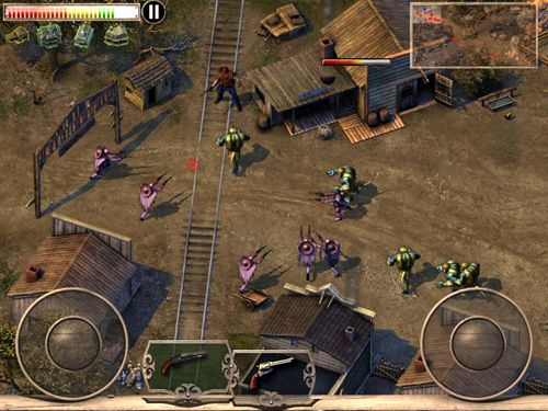 Capturas de pantalla del juego Cowboys & aliens para iPhone, iPad o iPod.