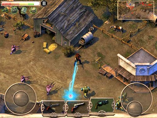 Screenshots of the Cowboys & aliens game for iPhone, iPad or iPod.