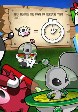Cows vs  Aliens iPhone game - free  Download ipa for iPad