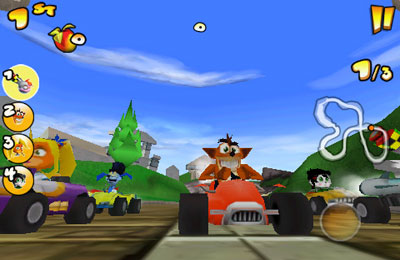 Download Crash Bandicoot Nitro Kart 2 iPhone free game.
