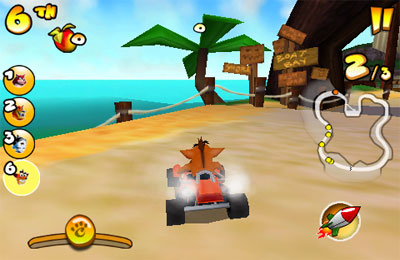 Capturas de pantalla del juego Crash Bandicoot Nitro Kart 2 para iPhone, iPad o iPod.