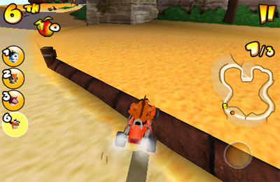 Screenshots do jogo Crash Bandicoot Nitro Kart 2 para iPhone, iPad ou iPod.