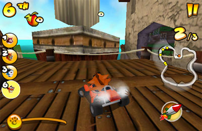 Écrans du jeu Crash Bandicoot Nitro Kart 2 pour iPhone, iPad ou iPod.