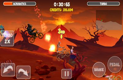 Screenshots of the Crazy Bikers 2 game for iPhone, iPad or iPod.