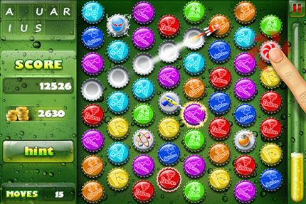 Screenshots of the Crazy Caps game for iPhone, iPad or iPod.