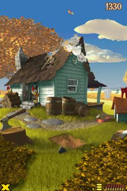 Screenshots of the Crazy Chicken Deluxe - Grouse Hunting game for iPhone, iPad or iPod.
