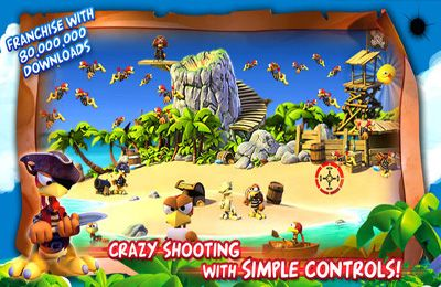 Free Crazy Chicken: Pirates download for iPhone, iPad and iPod.