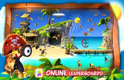 Écrans du jeu Crazy Chicken: Pirates pour iPhone, iPad ou iPod.