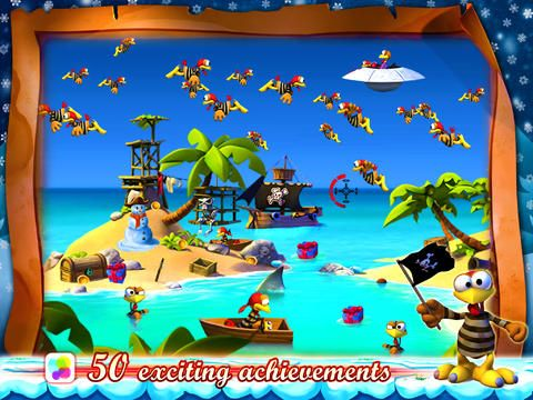 Download Crazy Chicken: Pirates - Christmas Edition iPhone free game.